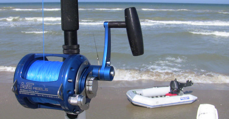 03. shark fishing tackle - texas shark fishing, Fishing Rod